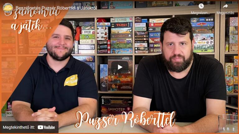 Beszélgetés Puzsér Róberttel a játékokról