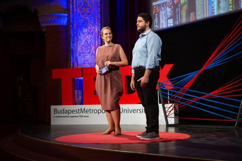 Nádai Zoli és Nádai-Győri Réka a TedX színpadán